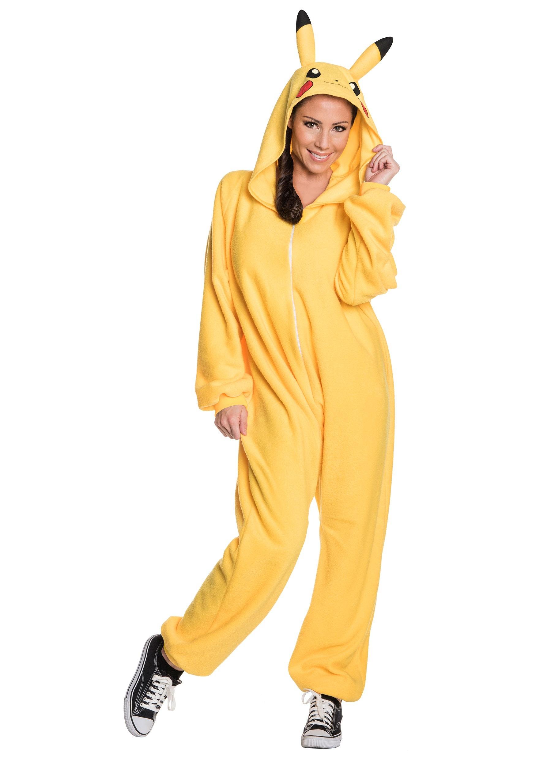 Animal Pak Wallpaper Pikachu Jumpsuit Costume For Adults