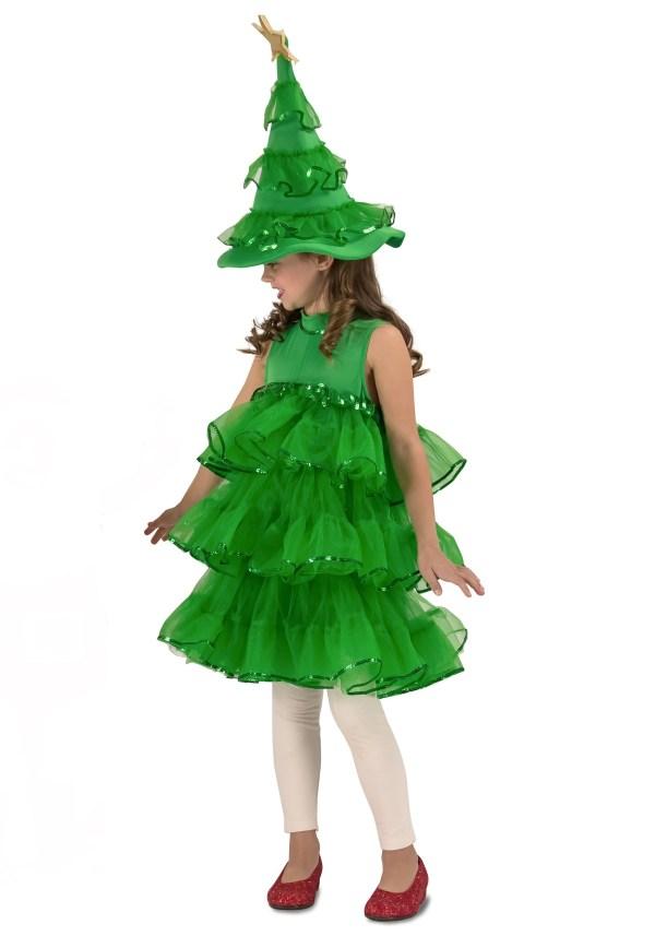 Girls Glitter Christmas Tree Costume
