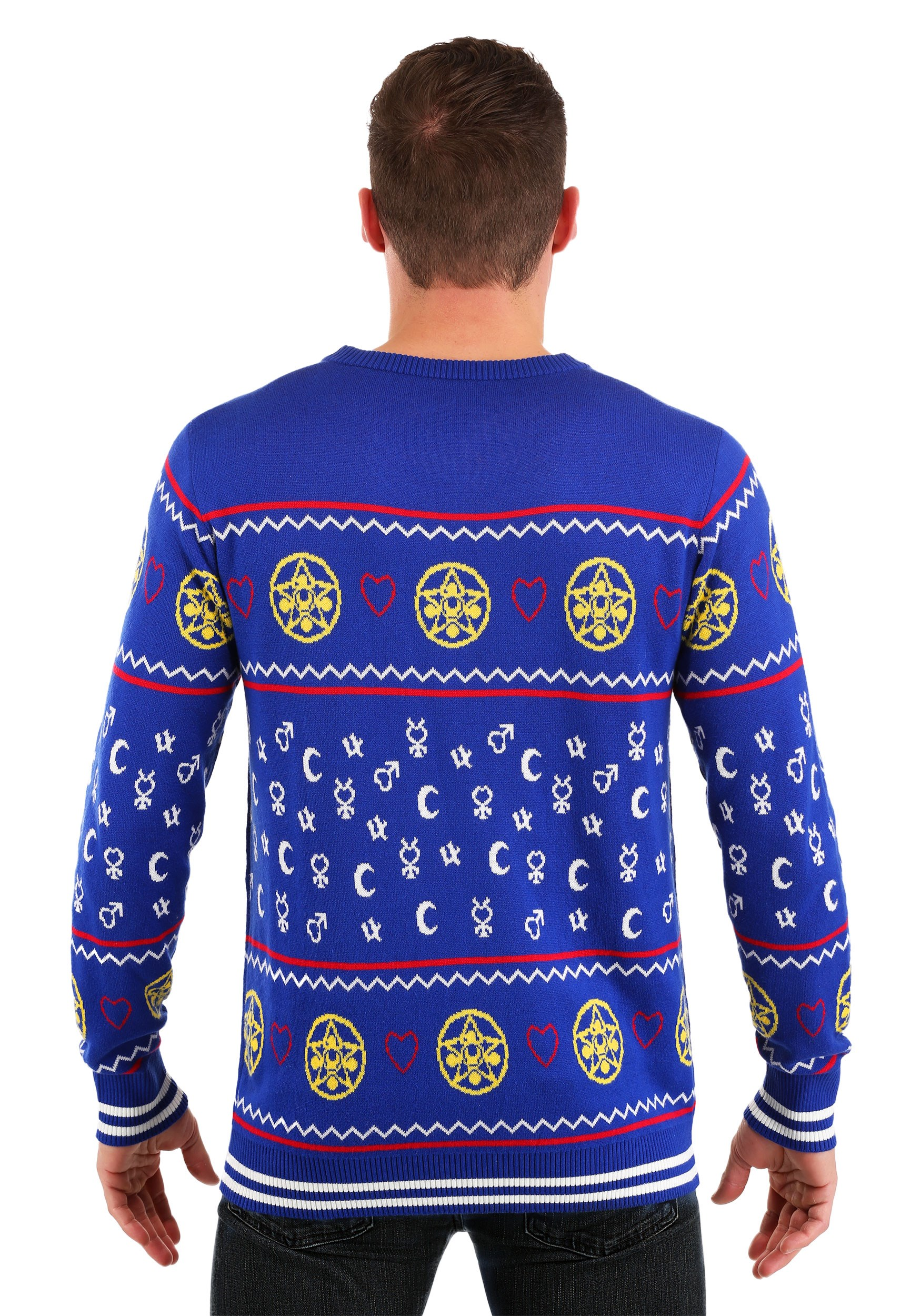 Sailor Moon Fair Isle Ugly Christmas Sweater For Adults