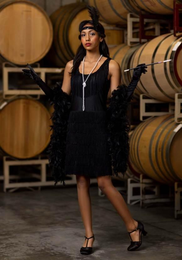 Black Fringe 1920's Flapper Costume for Women