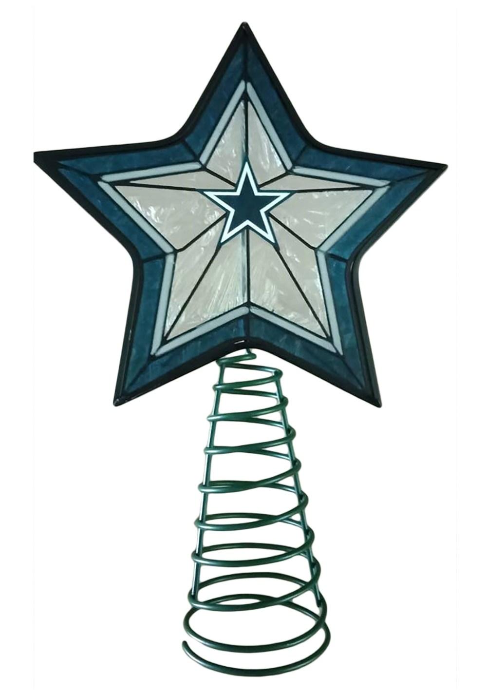 medium resolution of dallas cowboys star tree topper