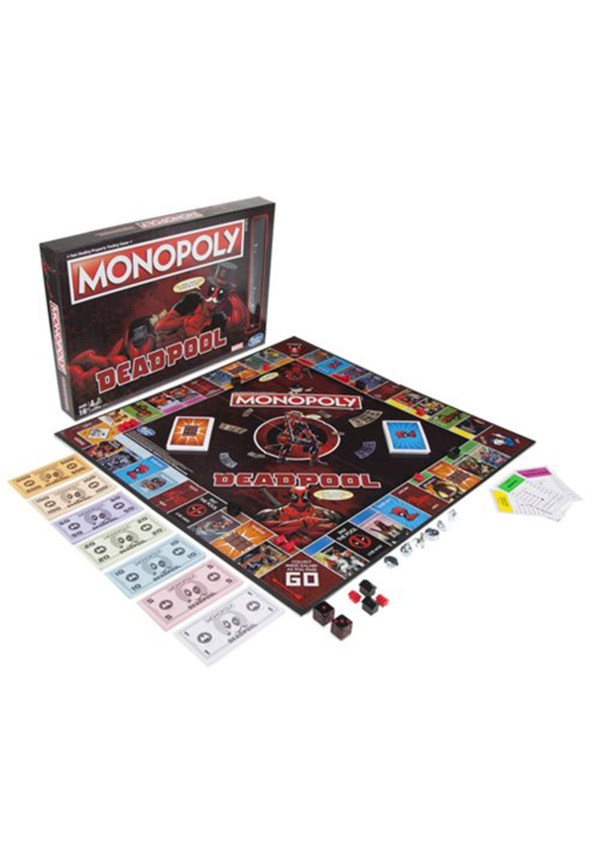 Marvel Deadpool Edition Monopoly Board Game