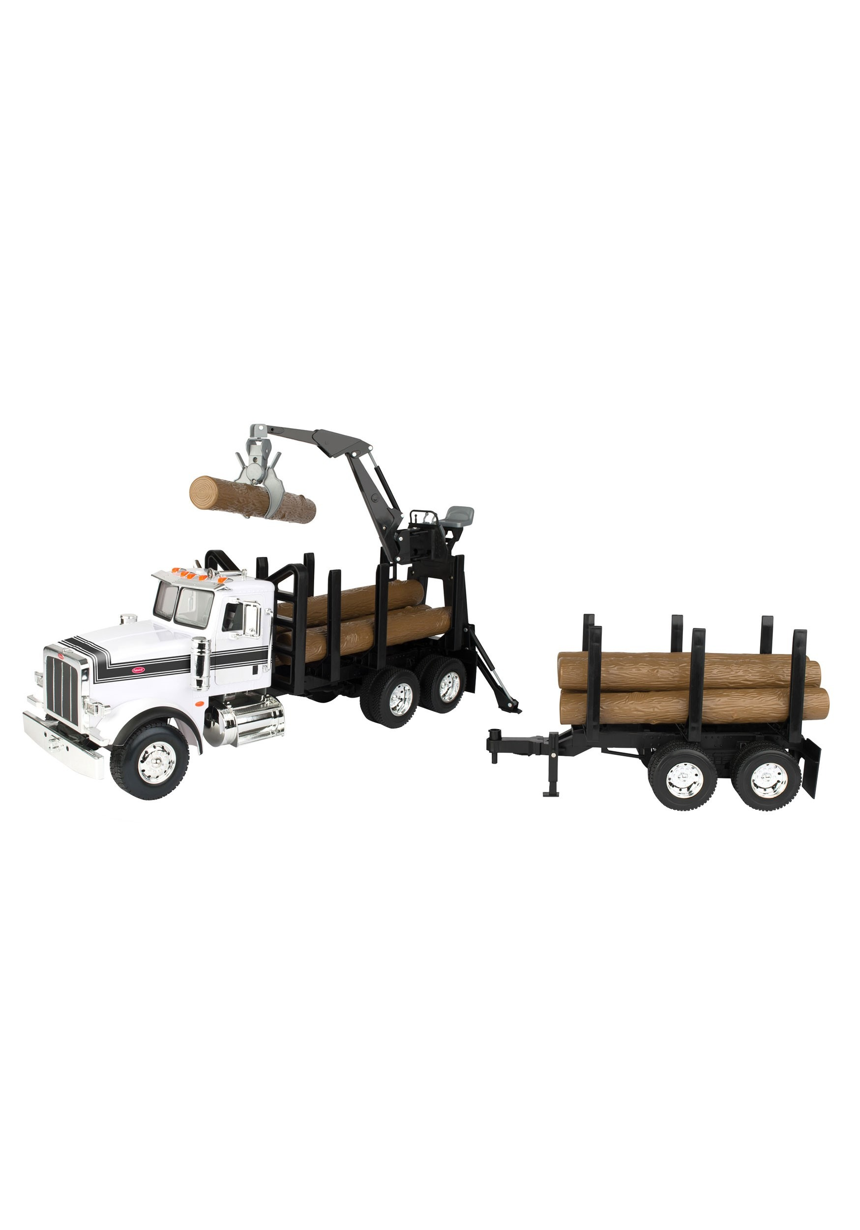 Peterbilt 1:16 Model 367 Log Truck with Prop Trailer and Logs