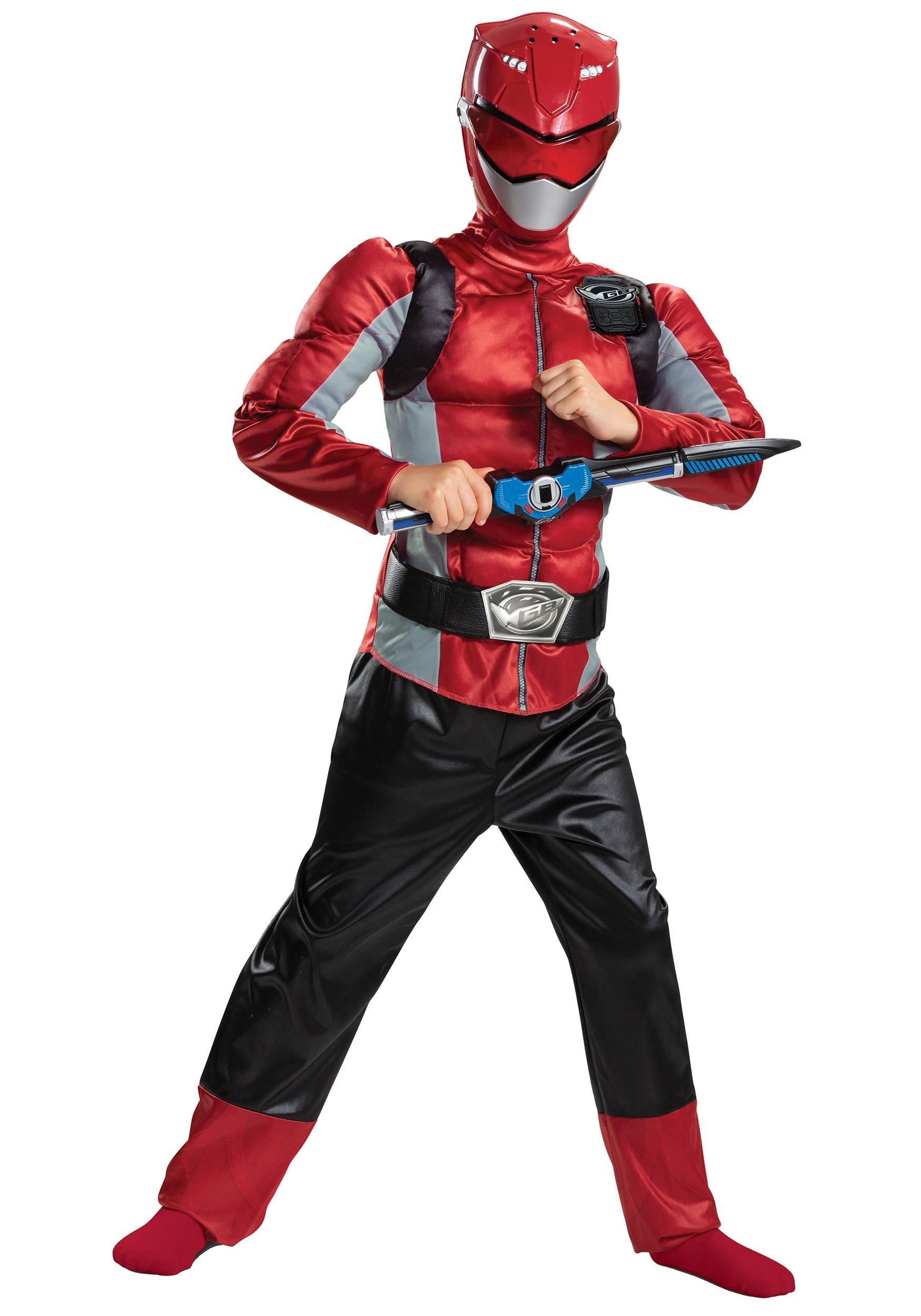 Power Rangers Beast Morphers Kids Red Ranger Classic Costume