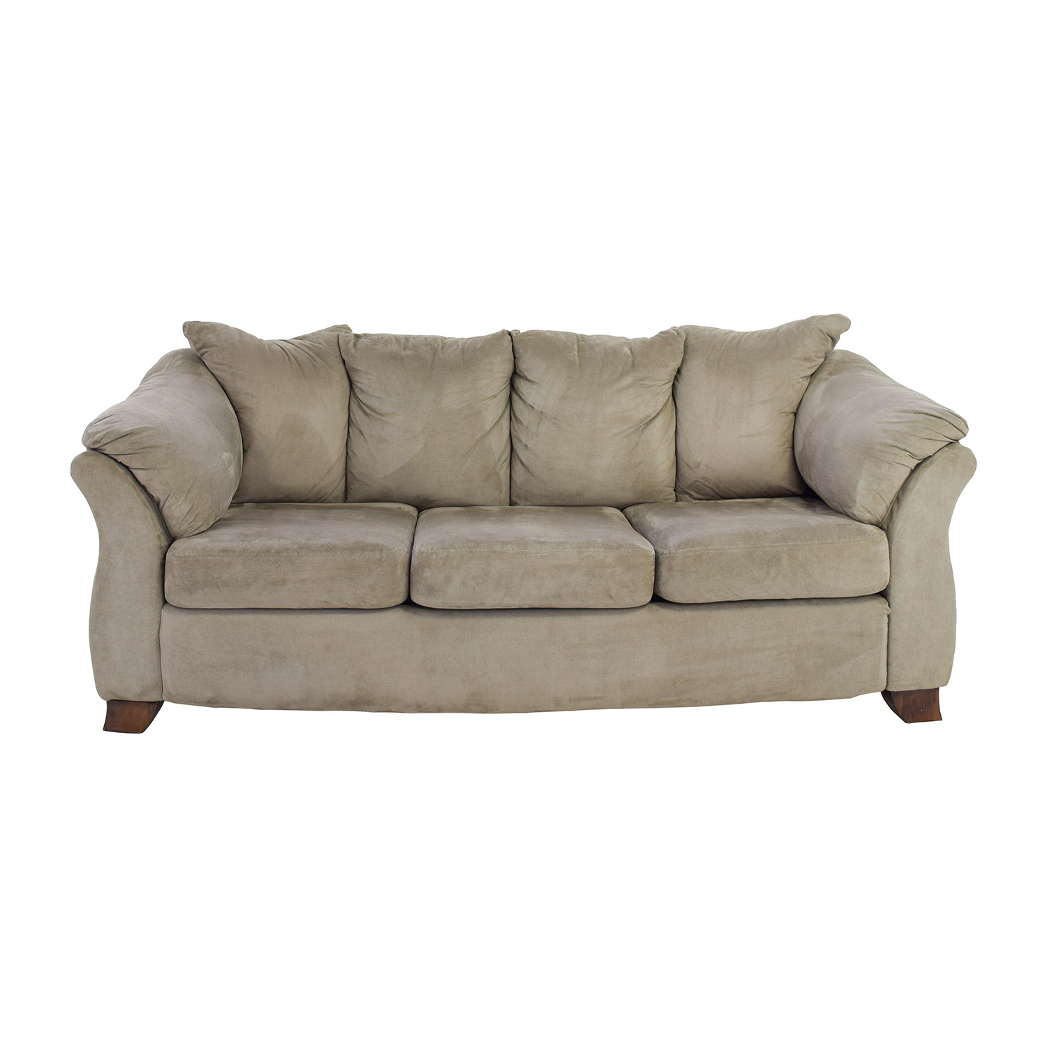 sage green leather sofa sofas rooms to go 50 off west elm with ottoman