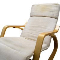 90% OFF - White Rocking Chair with Recliner / Chairs