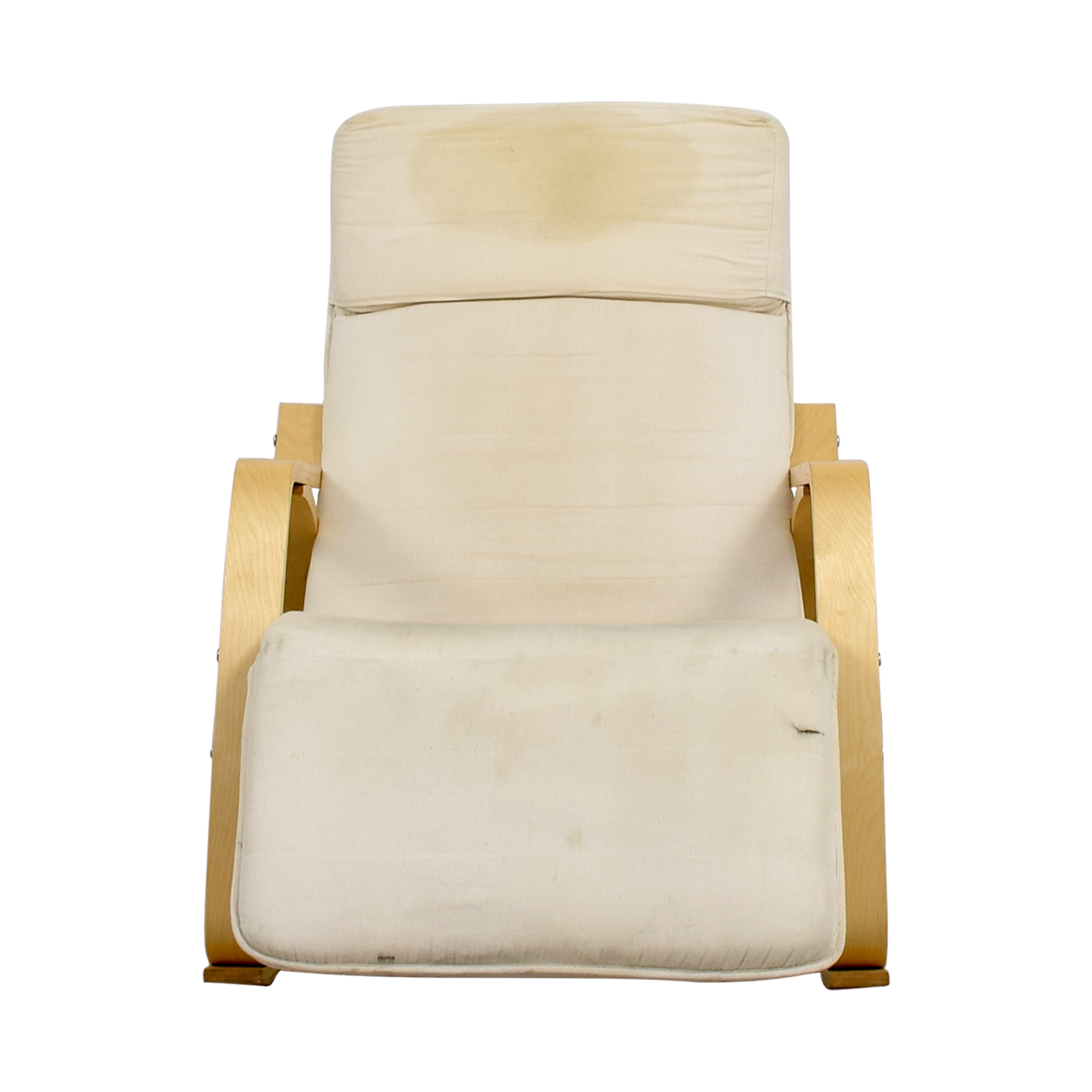 90 OFF  White Rocking Chair with Recliner  Chairs