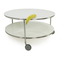 82% OFF - IKEA String Coffee Table with Casters / Tables