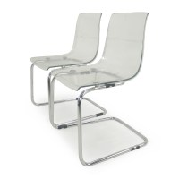 72% OFF - IKEA Tobias Transparent Chairs / Chairs