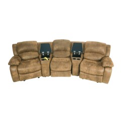 Theater Chairs With Cup Holders Office Chair Or Without Wheels 87% Off - Raymour And Flanigan Seating Couch / Sofas