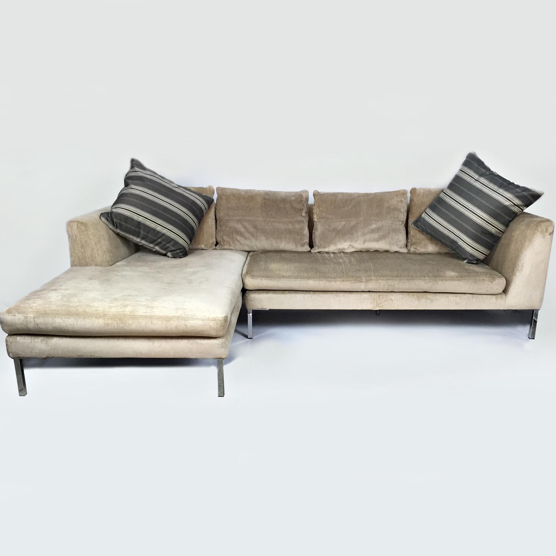 bergamo sectional leather modern sofa gray mart davenport ia modani 40 best sofas images on pinterest