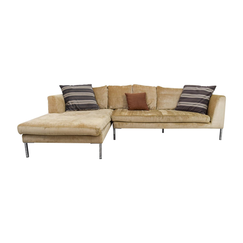 bergamo sectional leather modern sofa gray roundabout oval and ottoman set modani black white media table