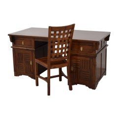 Office Chair Dimensions Outdoor Lounge Chairs Walmart 90 Off Antique Study Desk And Tables