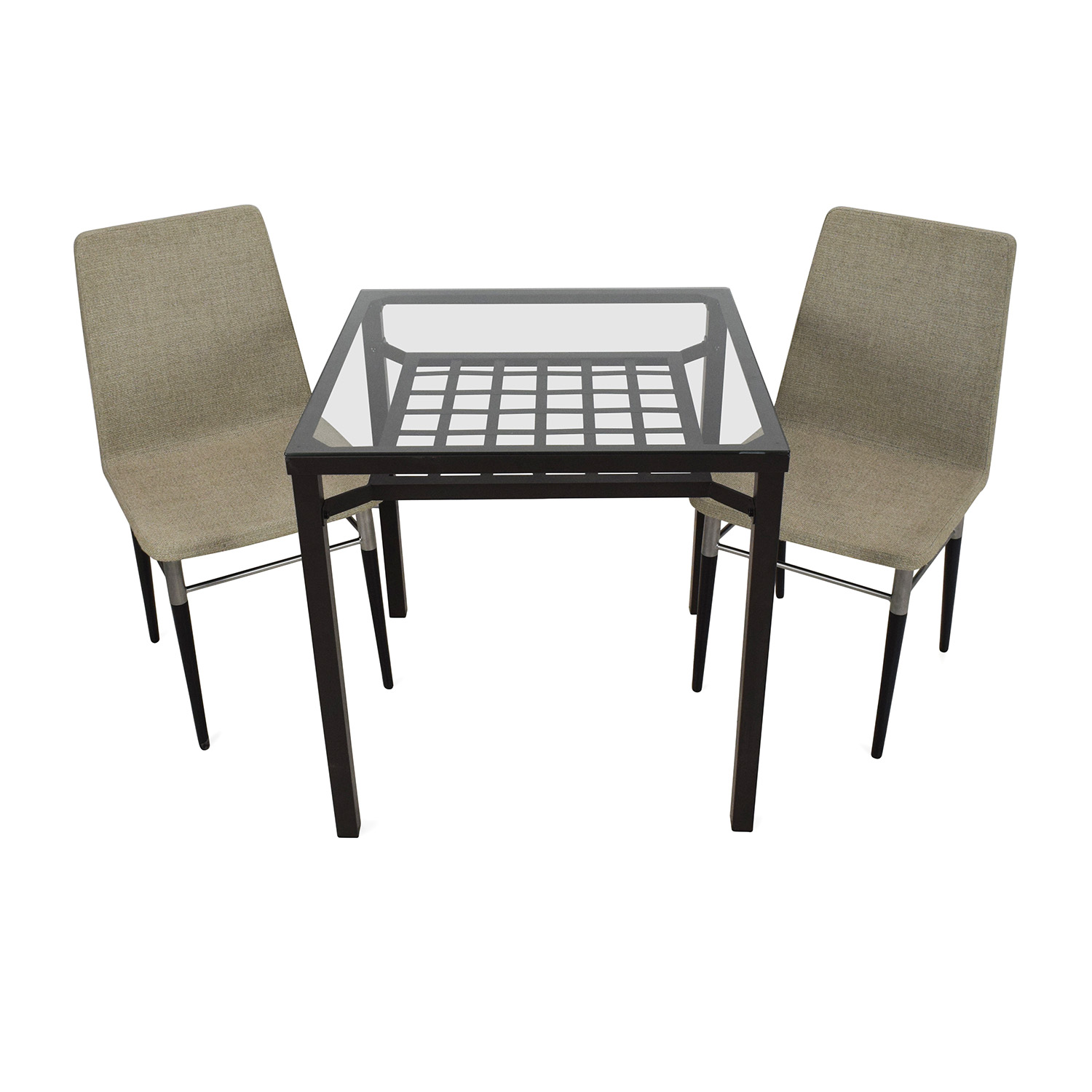 metal dining chairs ikea lightweight backpacking chair 30 off scroll and glass top table tables