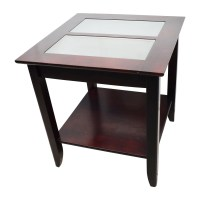 85% OFF - Target Target Glass and Wood Coffee Table / Tables