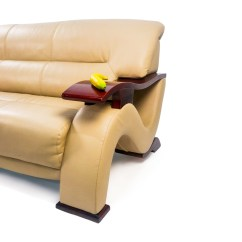 Secondhand Leather Sofas Solid Wood Sofa Sets India 84% Off - Unknown Brand Contemporary Beige ...