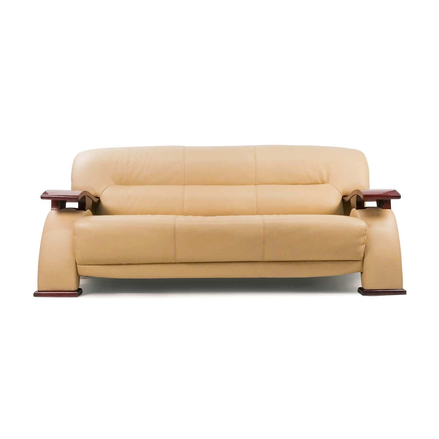 contemporary leather sofa top bed mattress 84 off unknown brand beige