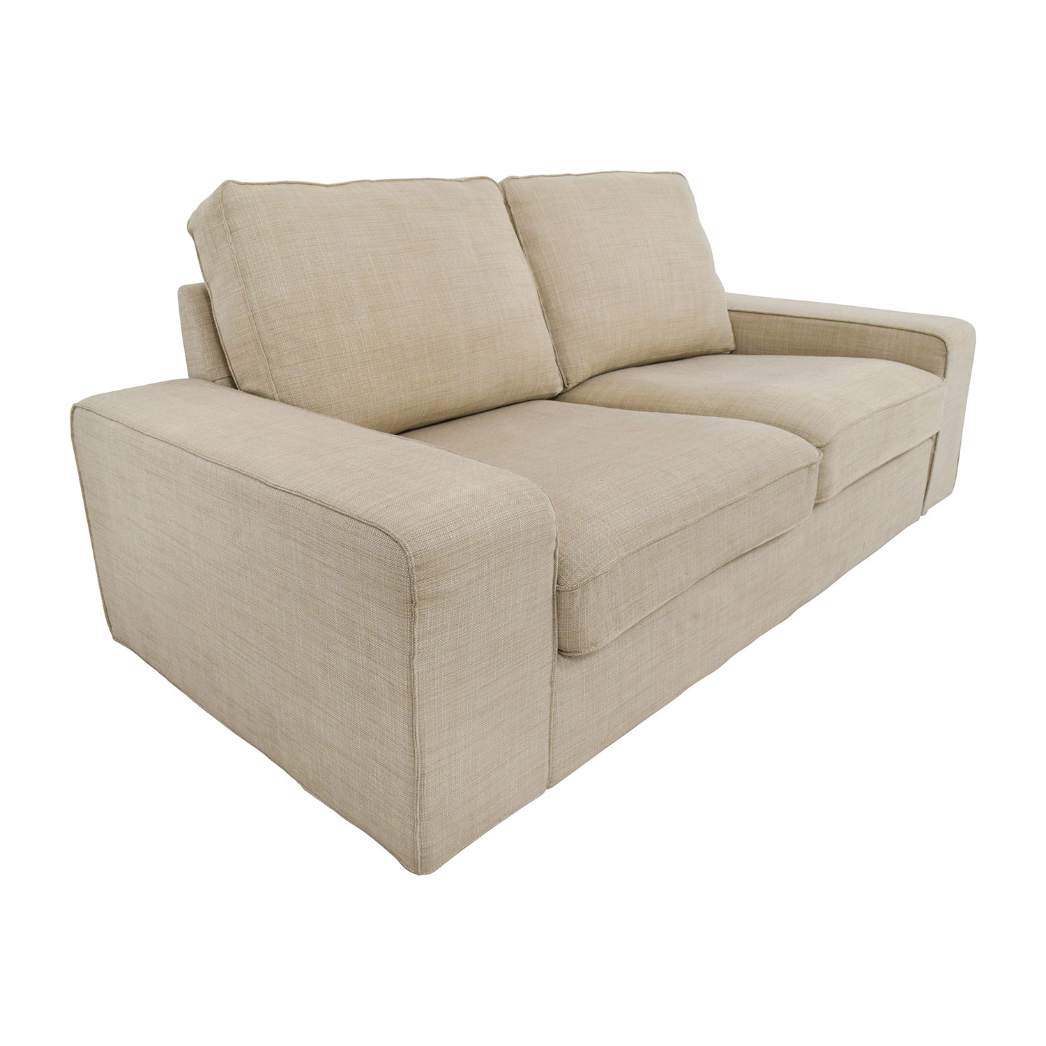 tan sofa and loveseat bed cover malaysia 68 off ikea light beige fabric sofas