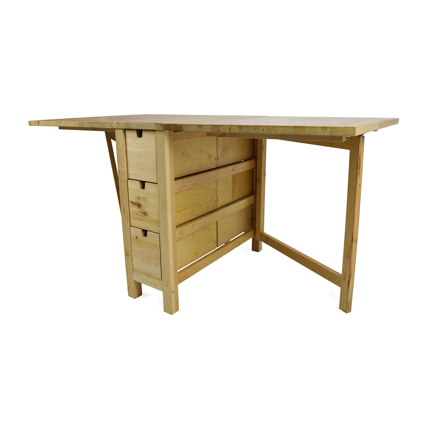 72 OFF  IKEA IKEA Foldable Kitchen Table and Desk  Tables