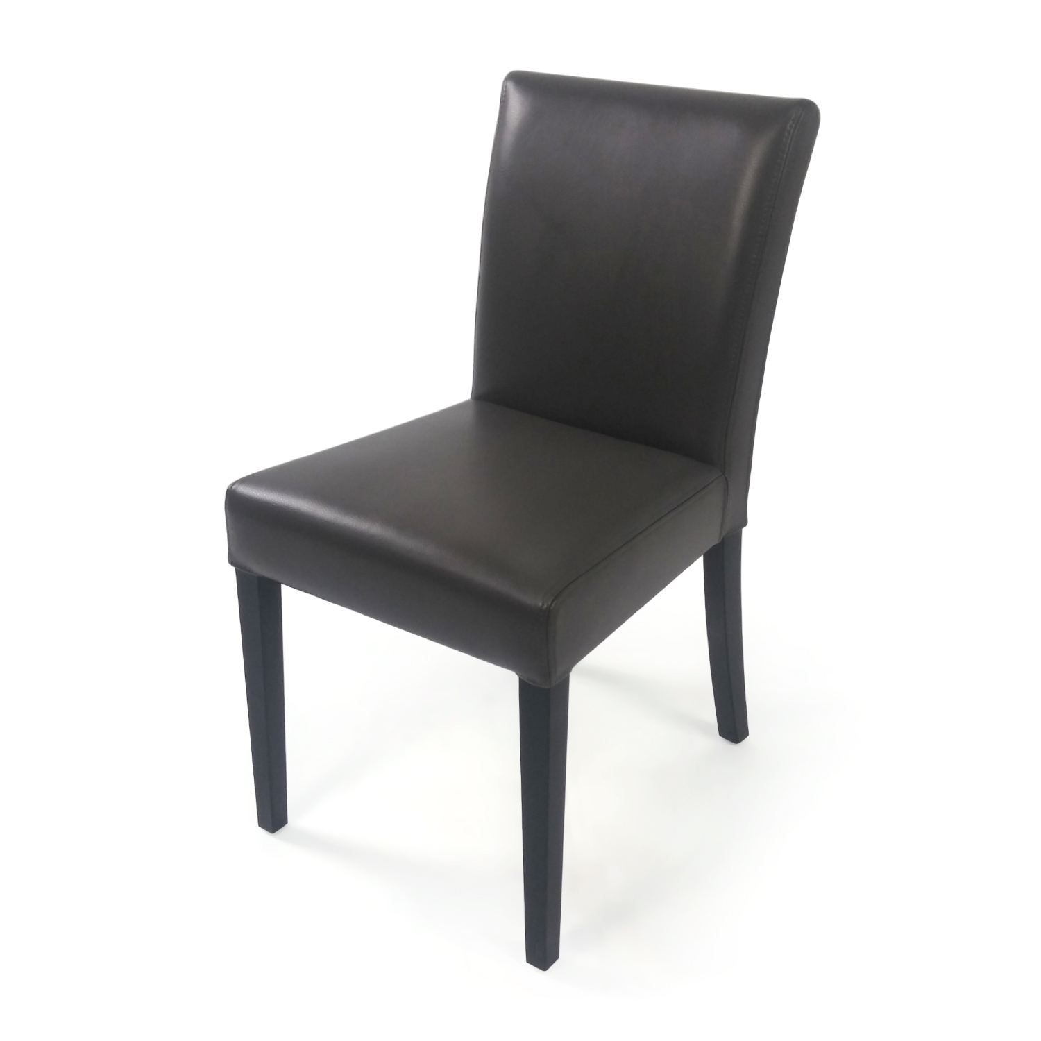 90 OFF  CB2 CB2 Leather Side Chair  Chairs