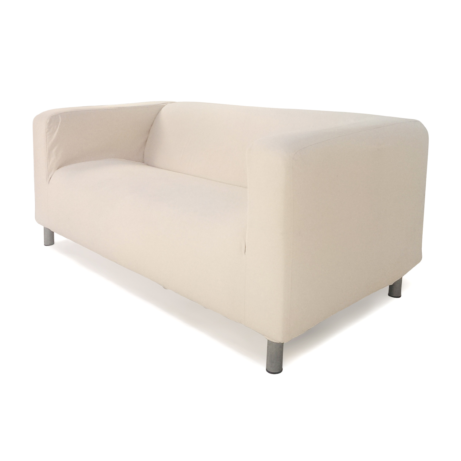 ikea klippan sofa cover red what is the difference between a and couch davenport slipcover leaby yellow