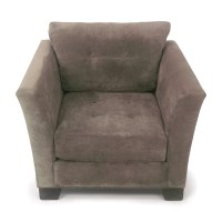 30% OFF - Macy's Macy's Grey Tufted Arm Chair / Chairs