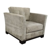 75% OFF - Macy's Macy's Grey Tufted Arm Chair / Chairs