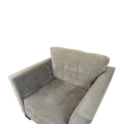 Gray Tufted Chair Swivel For Home Office 75 Off Macy 39s Grey Arm Chairs