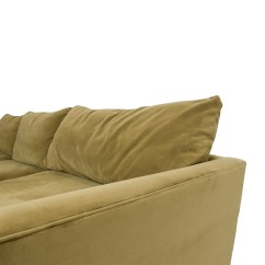 2nd Hand Sectional Sofa Sofas With Chaise On One End 65 Off Crate Barrel And Lounge Ii Camel