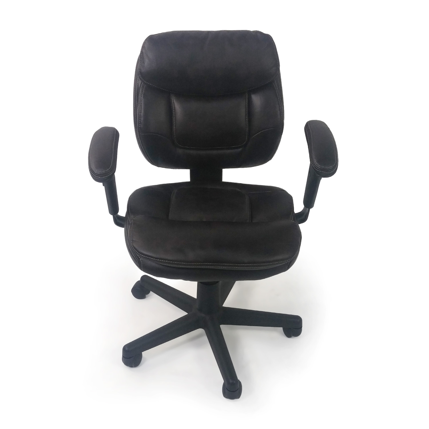 Faux Leather Chair 86 Off Plush Faux Leather Office Chair Chairs