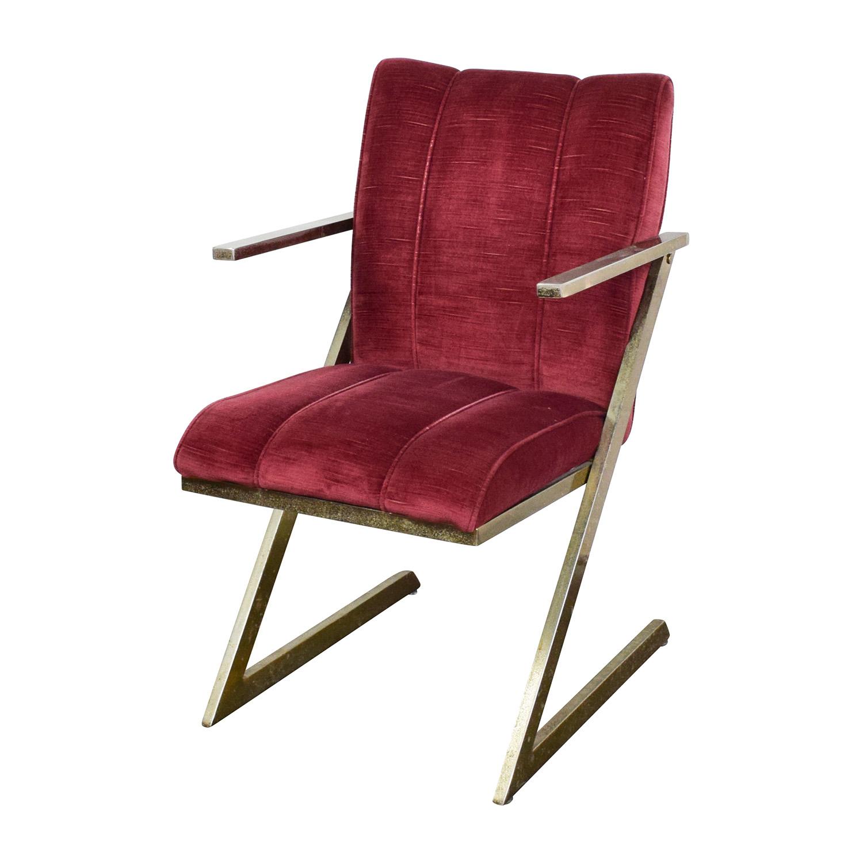 velvet chair design folding racks 77 off vintage plush burgundy chairs