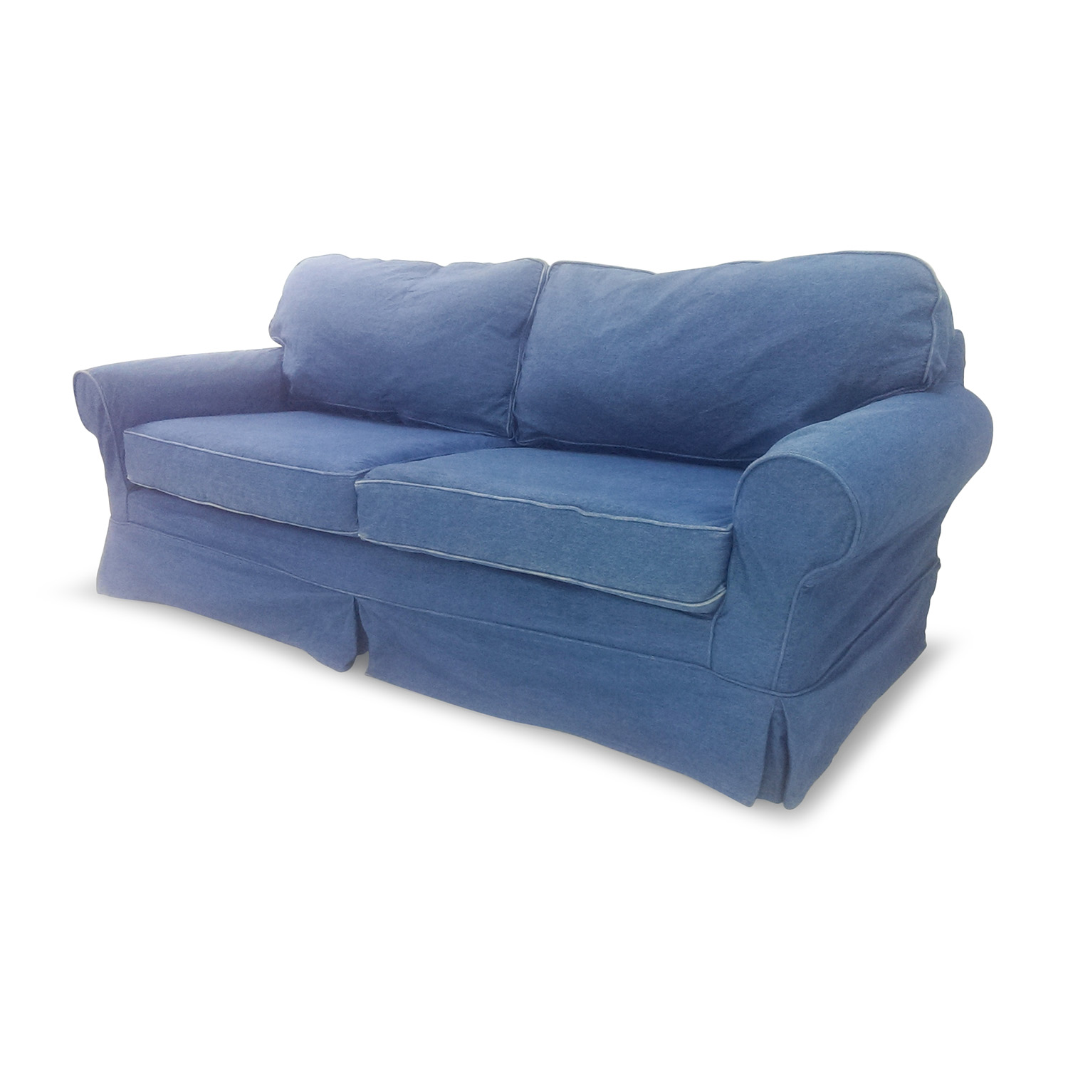 blue denim sofa bed cleaning company glasgow sofas 78 off couch thesofa