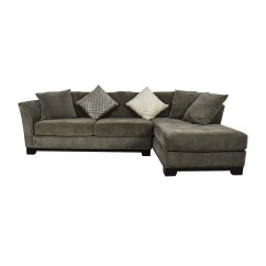 Macys Leather Sofa With Chaise Grey Colour Fabric 50 Off Macy 39s Gray Sectional Couch