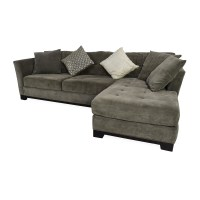 50% OFF - Macy's Macy's Gray Sectional Couch with Chaise ...