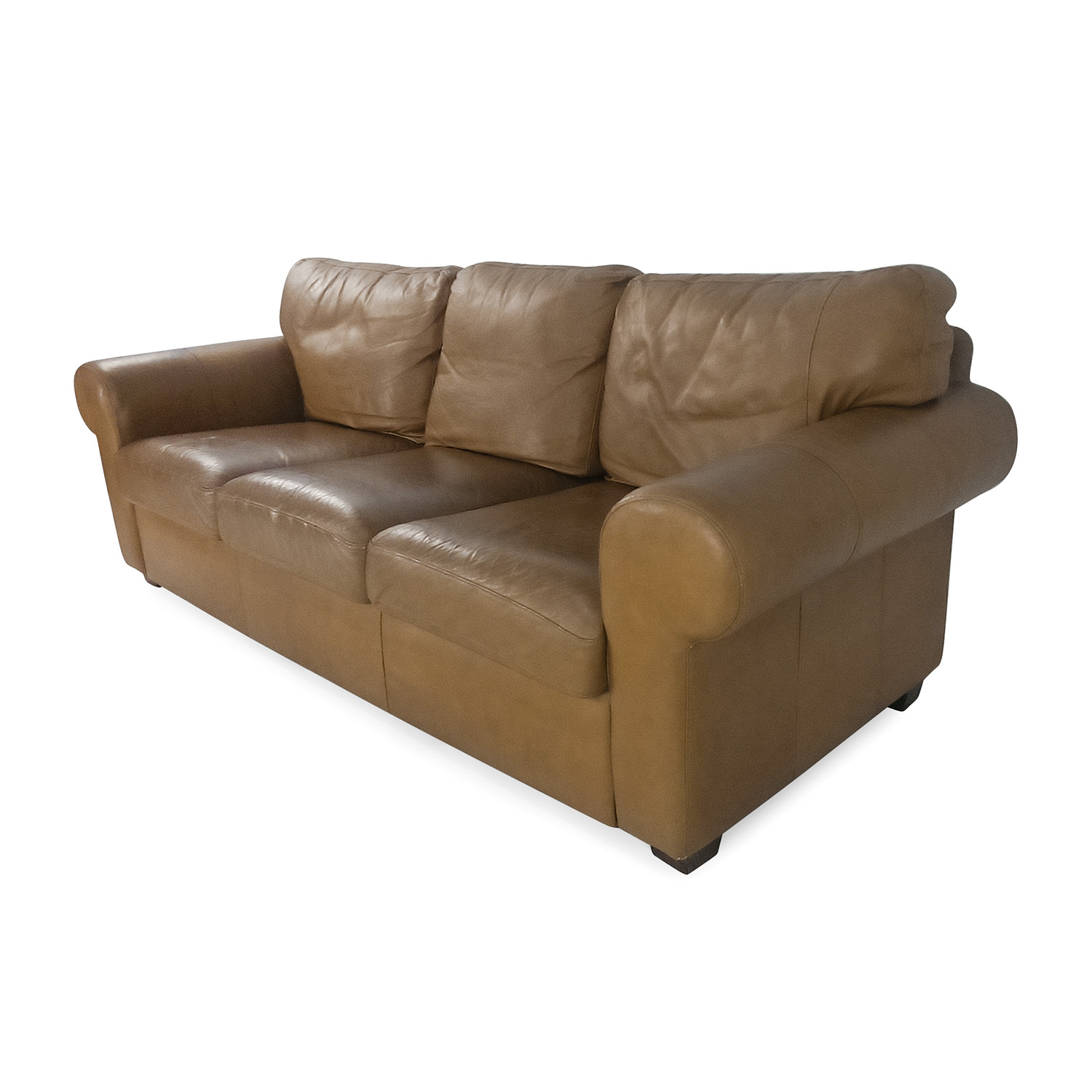 crate and barrel leather sofa bed lazy boy mackenzie 54 off couch