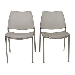 Used Kitchen Chairs Black Chair Covers For Hire 90 Off Pair Of White