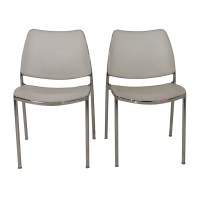 90% OFF - Pair of White Kitchen Chairs / Chairs
