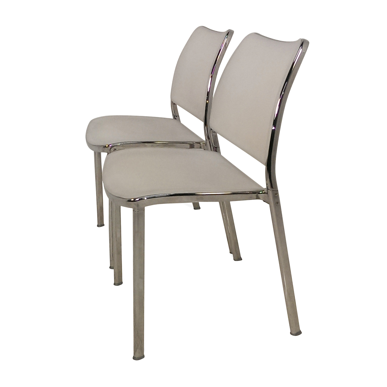 used kitchen chairs egg chair 90 off pair of white