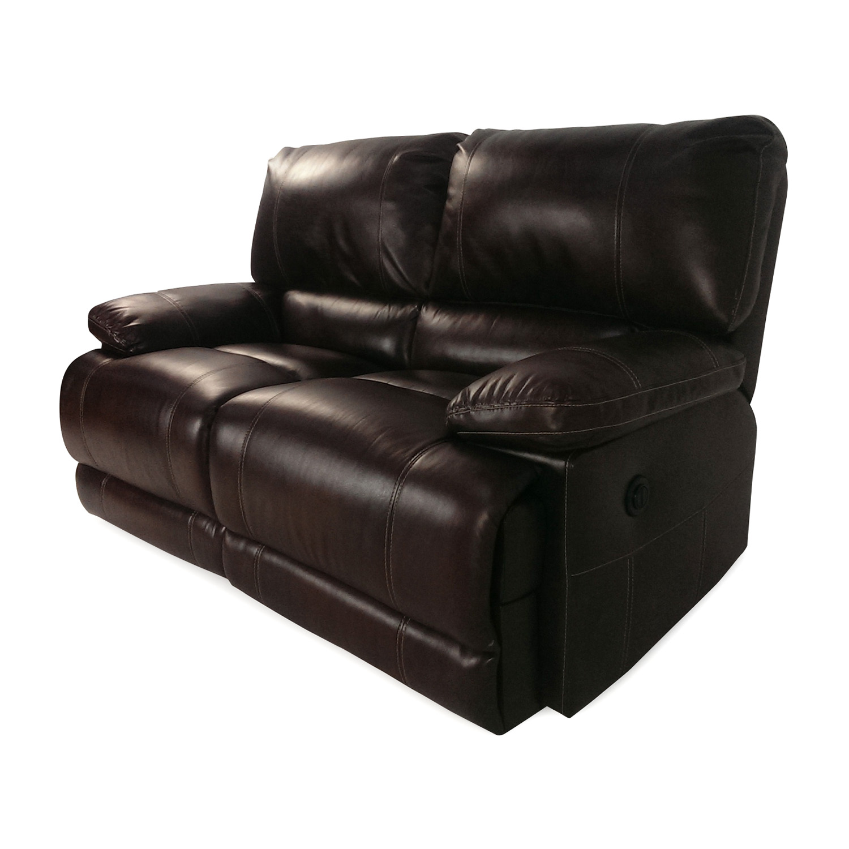 bobs furniture sofa recliner pottery barn slipcovered knock off 50 reclining loveseat