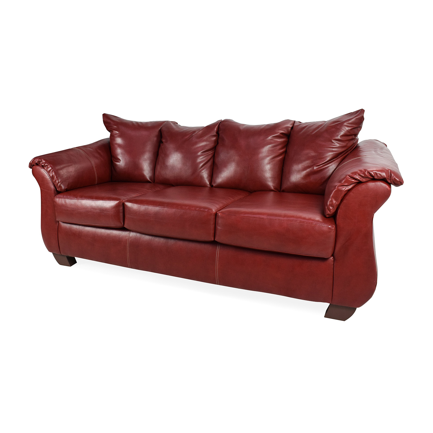 red leather sofas and chairs organic sofa canada 72 off haymarket sierra