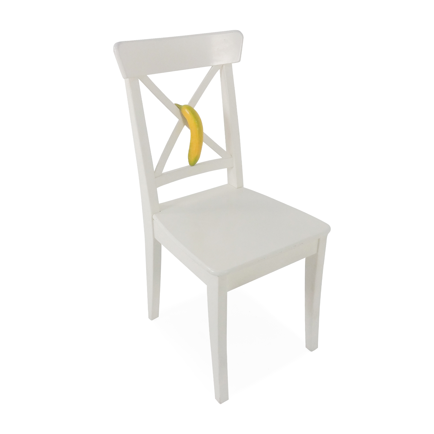 ikea ingolf chair cosco step stool yellow 50 off white dining chairs