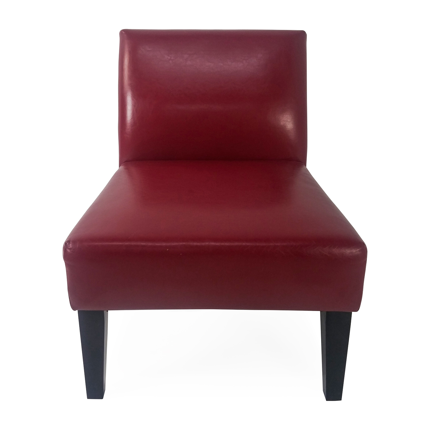 Red Slipper Chair 47 Off Crate And Barrel Crate And Barrel Lowe Onyx Black