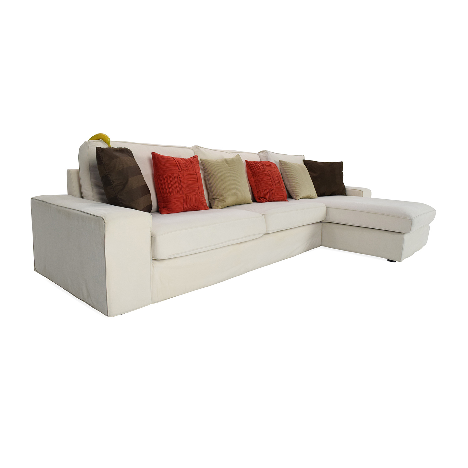 sectional sofas under 1000 00 leather sleeper sofa 50 off ikea eggshell white with chaise