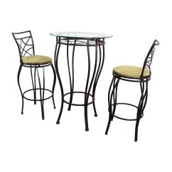 Iron Table And Chairs Set Henriksdal Dining Chair Covers Ikea 89 Off Bistro Two Tables