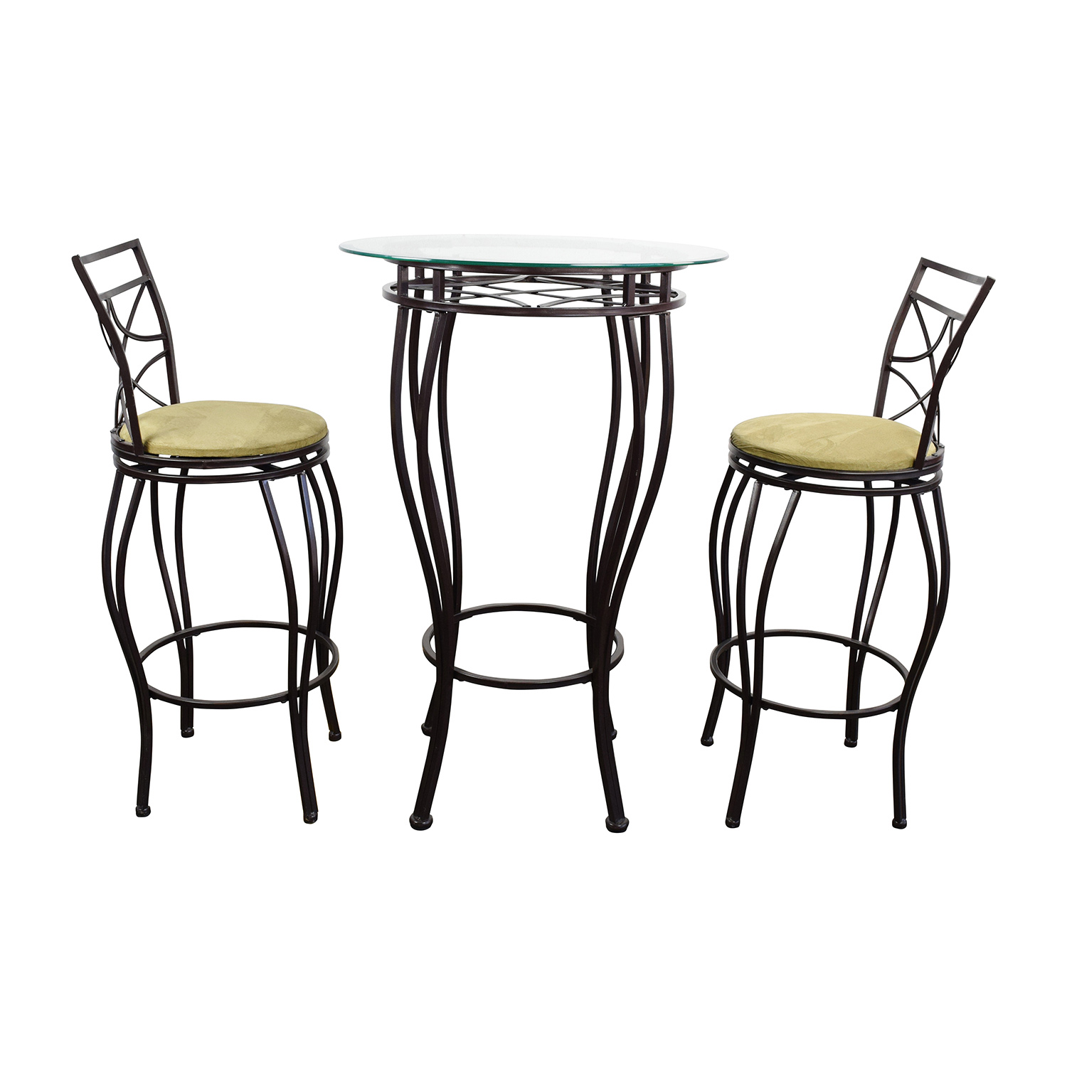 iron table and chairs set chair cover rentals dallas texas 89 off bistro two tables
