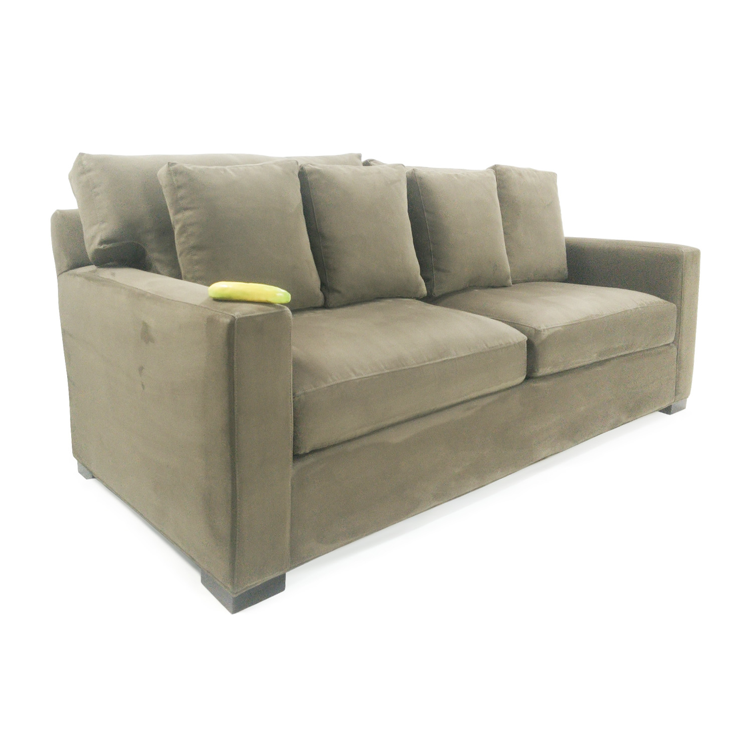 crate and barrel leather sofa bed slipcovered canada axis ii brown 3 seat thesofa