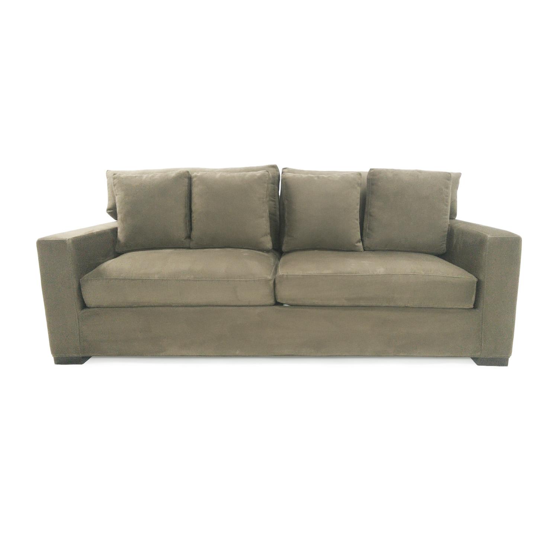 axis sofa art van textured linen slipcover 69 off crate barrel sofas thesofa