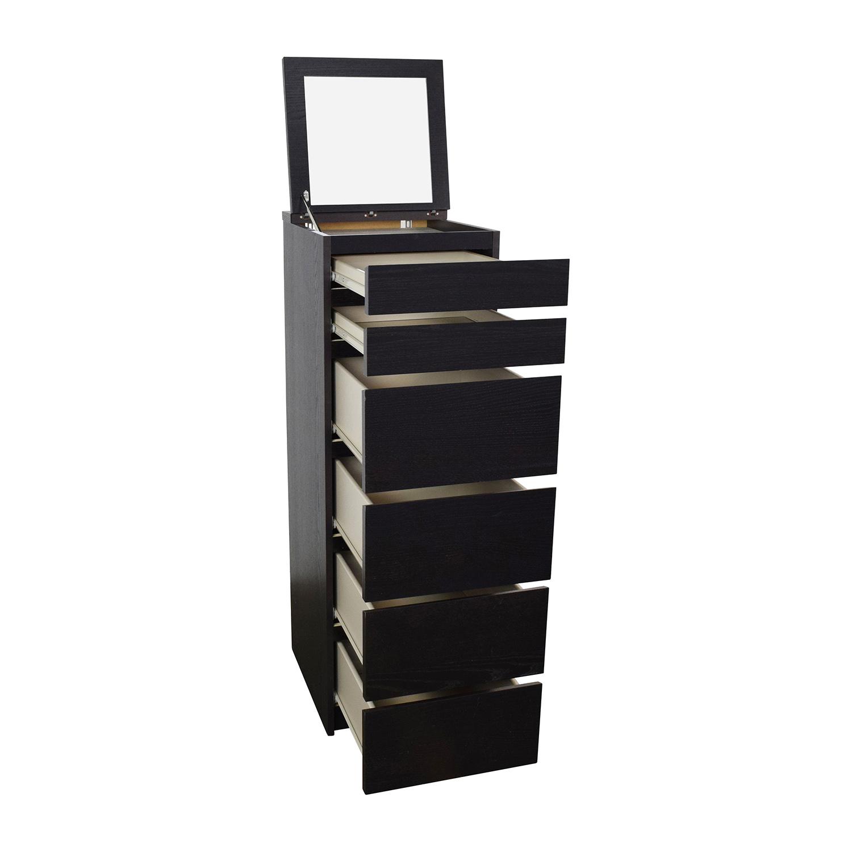 44 OFF IKEA IKEA Tall Narrow Dark Brown Dresser Storage