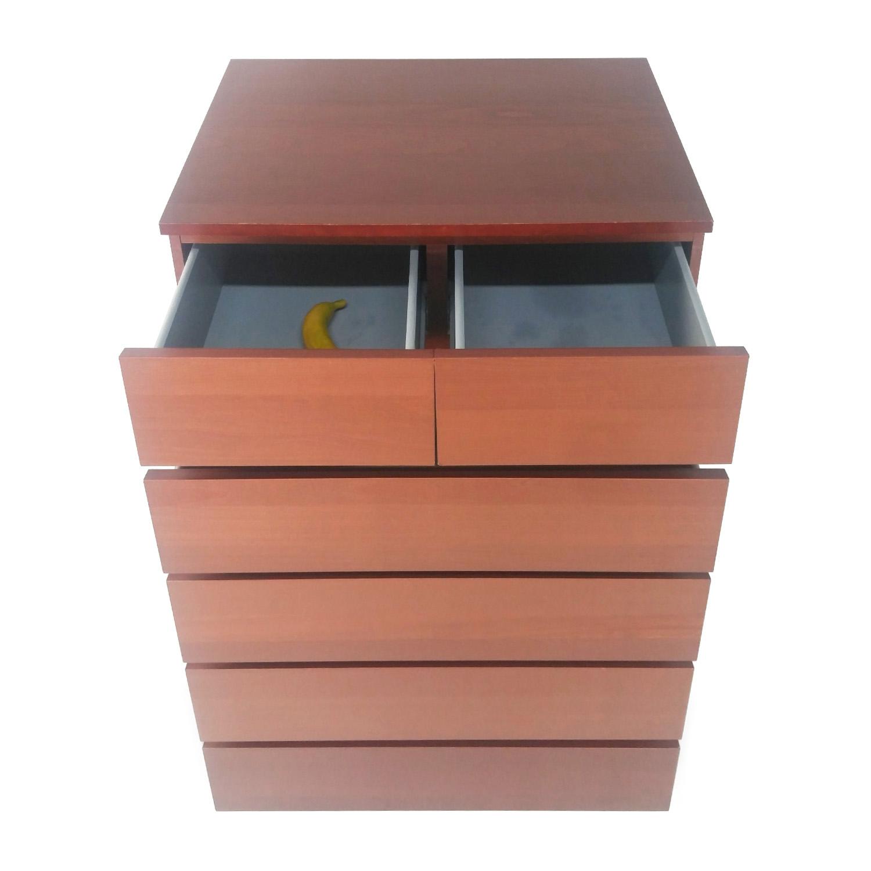 50 Off Ikea Malm 6 Drawer Dresser Storage