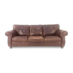 Leather Sofa Couch Cheap Corner Peterborough 85 Off Natuzzi Brown Sofas